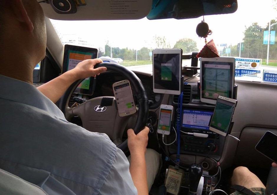 планшет в такси